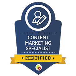 image of content marketing certified