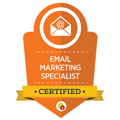 image of email marketing mastery certification